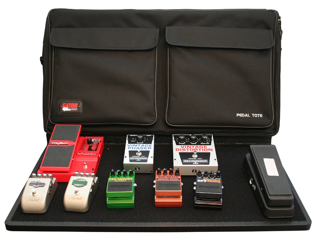 "Gator GPT-PRO-PWR 30"" X 16"" Wood Pedal Board With Black Nylon Carry Bag And Power Supply"