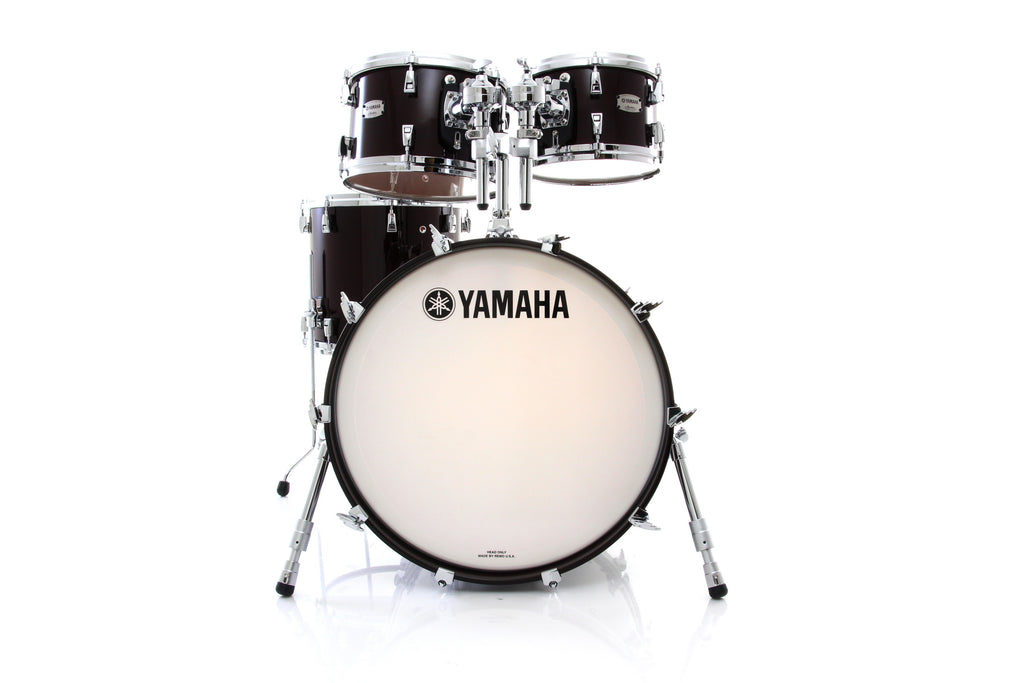 Yamaha Absolute Hybrid Maple 4 Piece Drum Set Shell Pack - Classic Walnut
