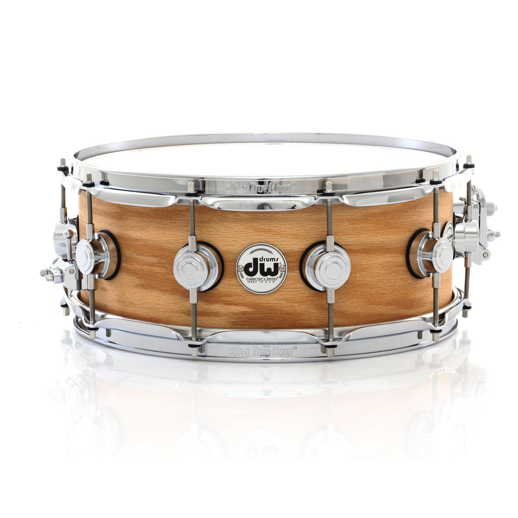"Drum Workshop 14"" x 5.5"" Collector's Series Pure Oak Snare Drum - Natural Hard Satin With Chrome Hardware"