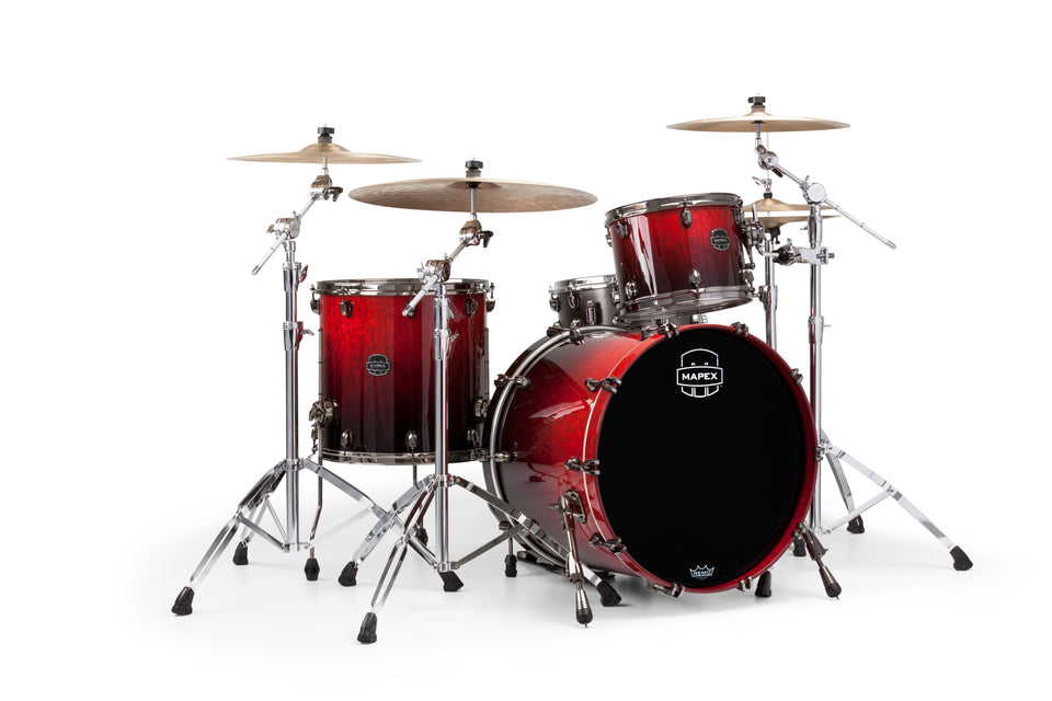 Mapex Saturn V MH Exotic Rock 3 Piece Drum Set Shell Pack - Cherry Mist Maple Burl