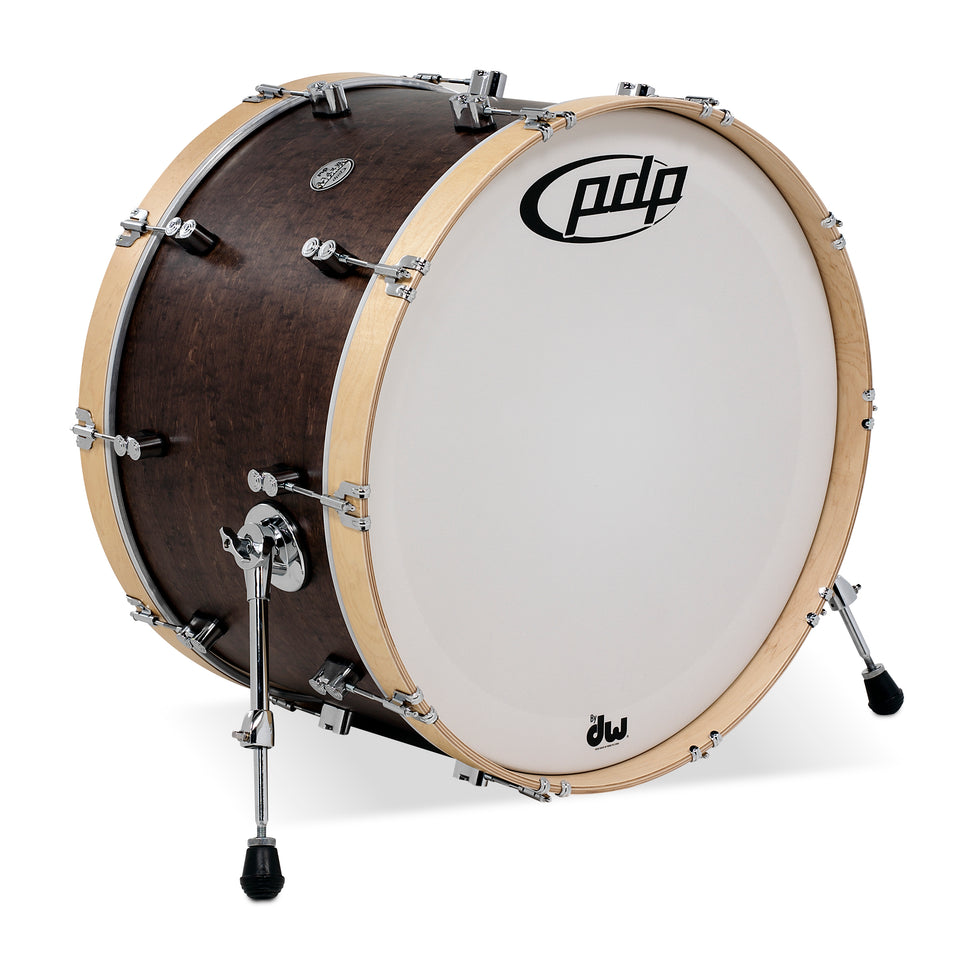 "PDP PDCC1424KKTN 24"" x 14"" Concept Maple Classic Bass Drum - Walnut / Natural"