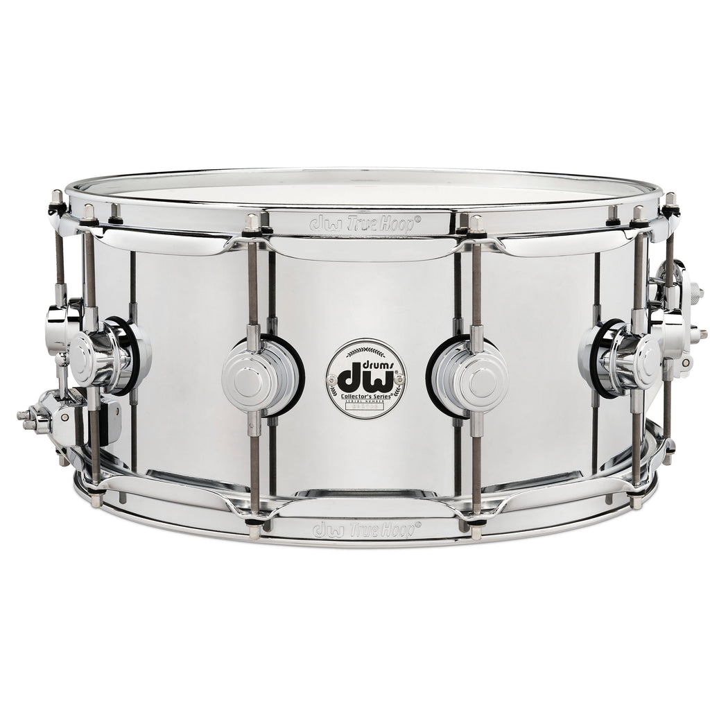 "Drum Workshop 14"" x 6.5"" Collector's Series Steel Snare Drum With Chrome Hardware"