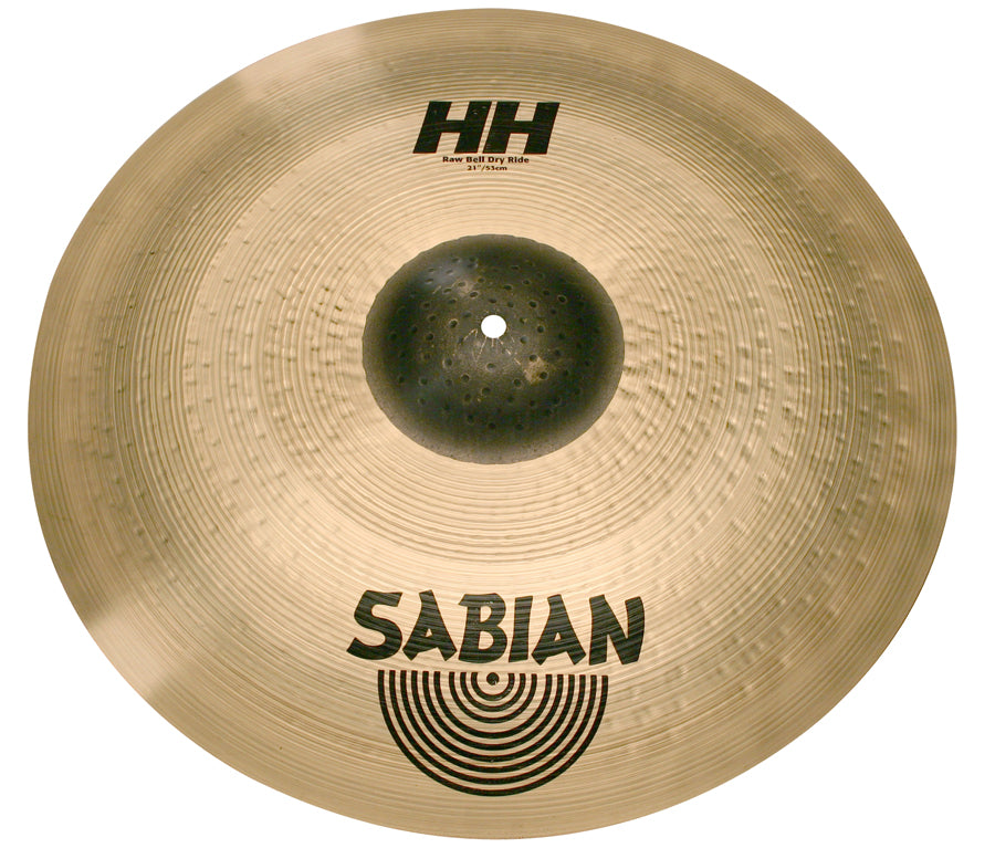 "Sabian 21"" HH Raw Bell Dry Ride Cymbal Brilliant Finish"