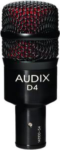 Audix D4 Dynamic Drum and Instrument Microphone For Low Frequencies