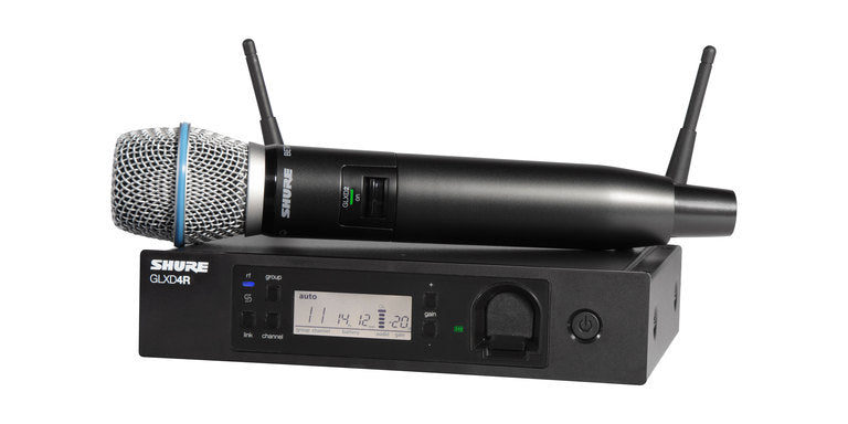 Shure GLXD24R/B87A Handheld Wireless System W/ Beta 87A Microphone