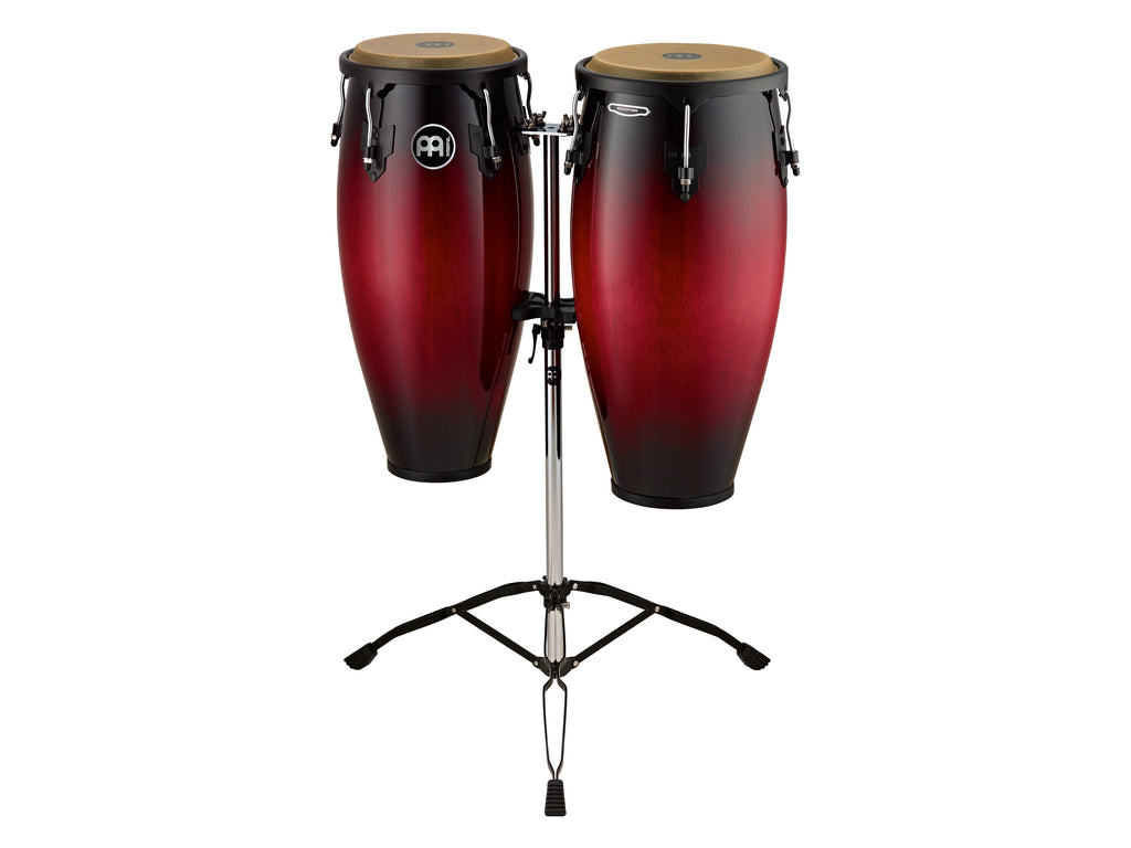"Meinl HC888WRB Headliner Series Conga Set 10"" And 11"" With Stand - Wine Red Burst"