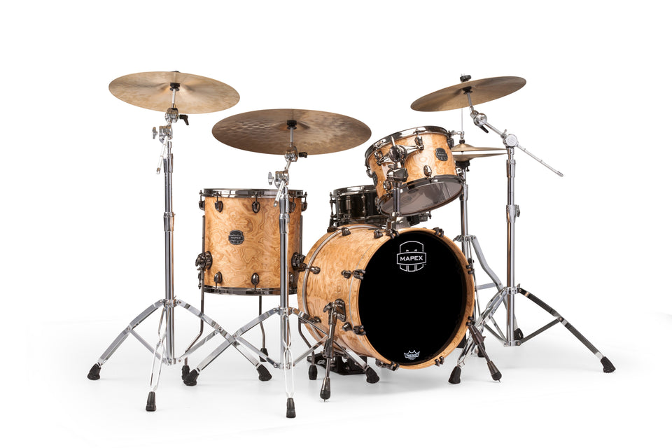 Mapex Saturn V MH Exotic Jazz 3 Piece Drum Set Shell Pack - Natural Maple Burl