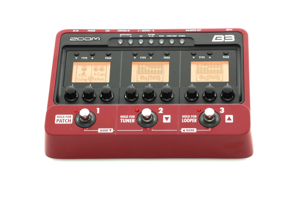 Zoom B3 USB Bass Effects Pedal