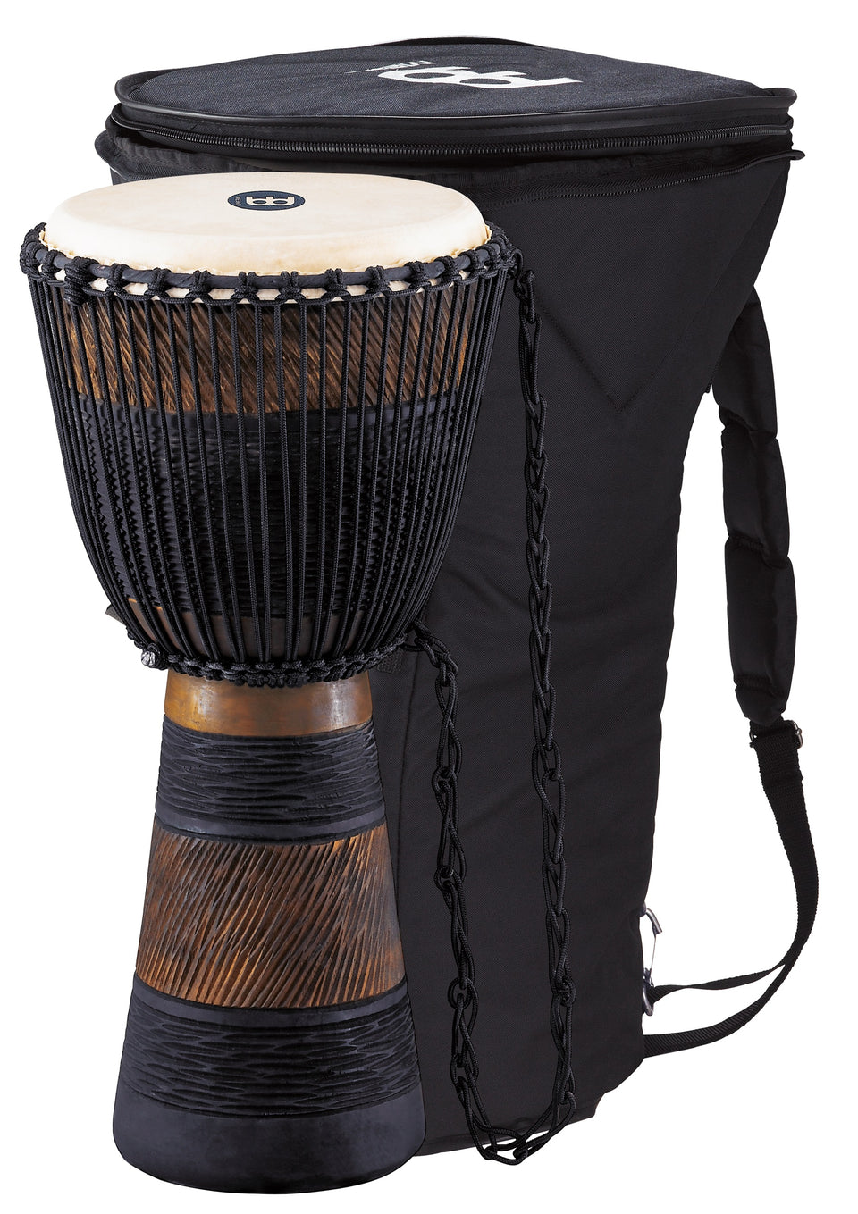 "Meinl ADJ3-L BAG Original African Style Rope Tuned Wood Djembe 12"" + Bag"
