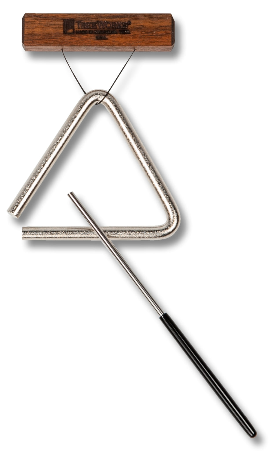TreeWorks TRE-HS04 4-Inch Triangle W/ Beater/Striker & Holder