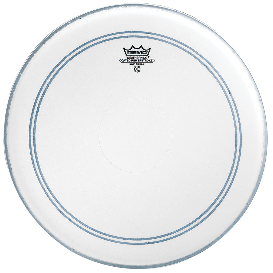 "Remo 18"" Coated Powerstroke 3 Bass Drum Head With Falam Patch"