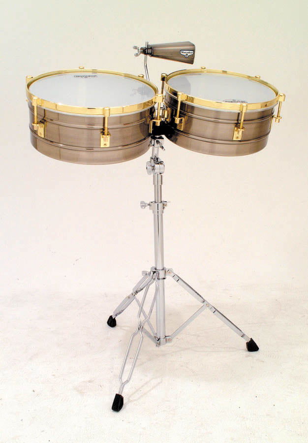 "LP M257-BNG Matador 14"" And 15"" Timbales, Brushed Nickel/Gold Tone"