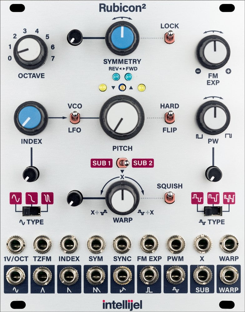 Intellijel Rubicon II Thru-Zero Discrete Triangle Core VCO Module