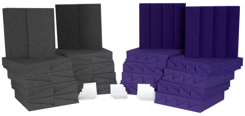AURALEX ACOUSTICS D36CHA/PUR D36 Roominator Acoustic Treatment Kit - Purple