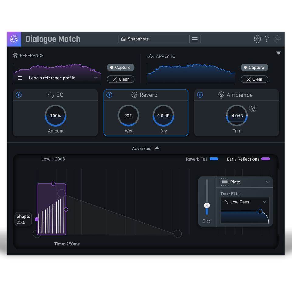 iZotope Dialogue Match: Crossgrade From Any Standard Or Advanced Product