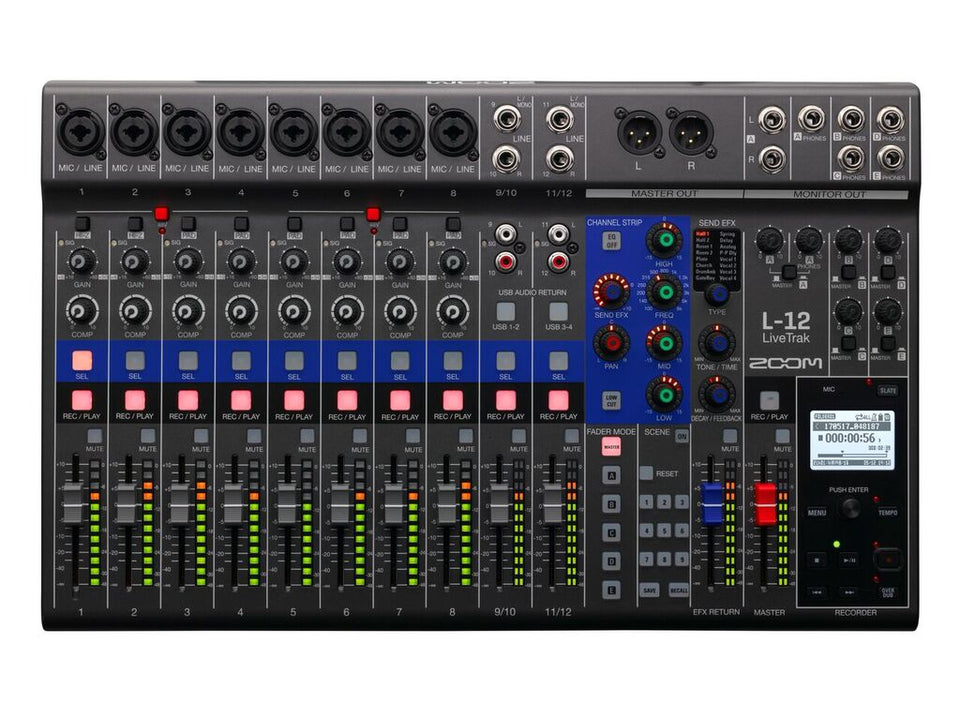 Zoom L-12 LiveTrak Live Mixer/Recorder