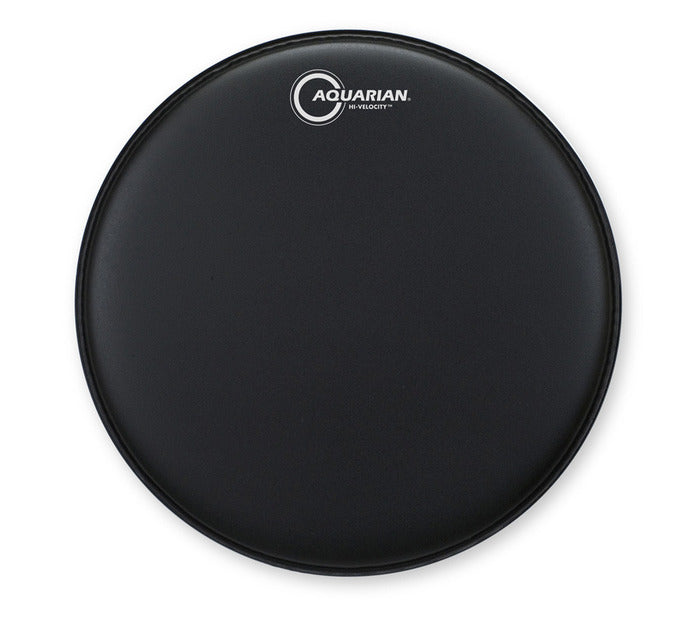 "Aquarian 14"" Hi-Velocity Snare Drum Batter Head - Black"