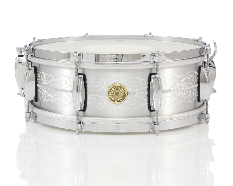 "Gretsch 14"" x 5"" USA Custom 135th Anniversary Solid Aluminum Snare Drum"