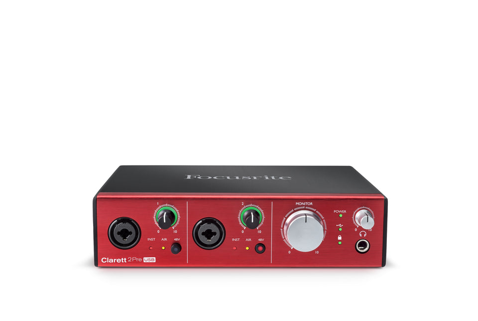 Focusrite Clarett 2Pre 10x4 USB Audio Interface