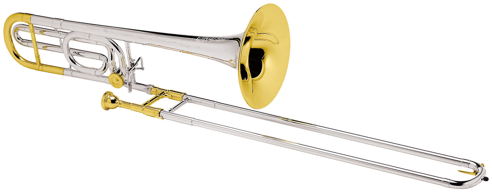 Conn 88HSGX Professional Tenor Trombone Outfit - Silver-Plated W/ Gold-Plated Trim