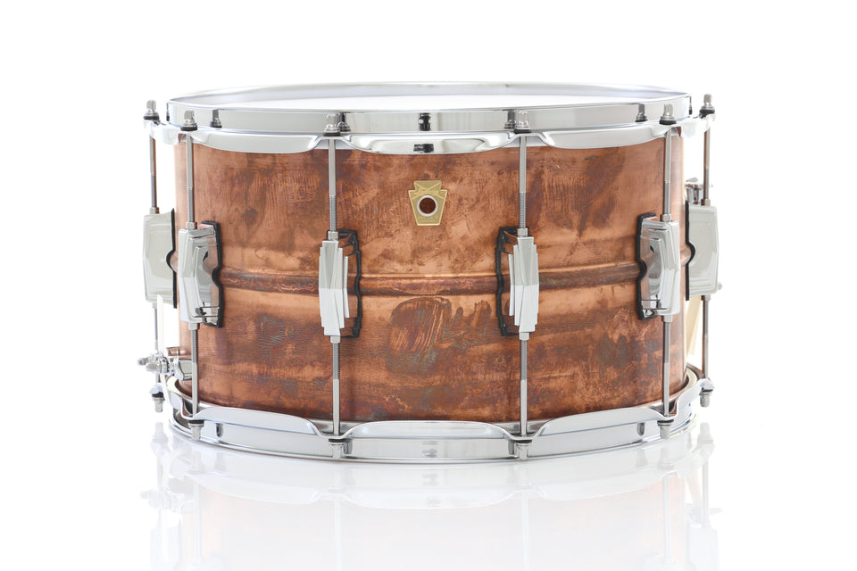 "Ludwig 14"" x 8"" Copper Phonic Snare Drum - Raw Finish"