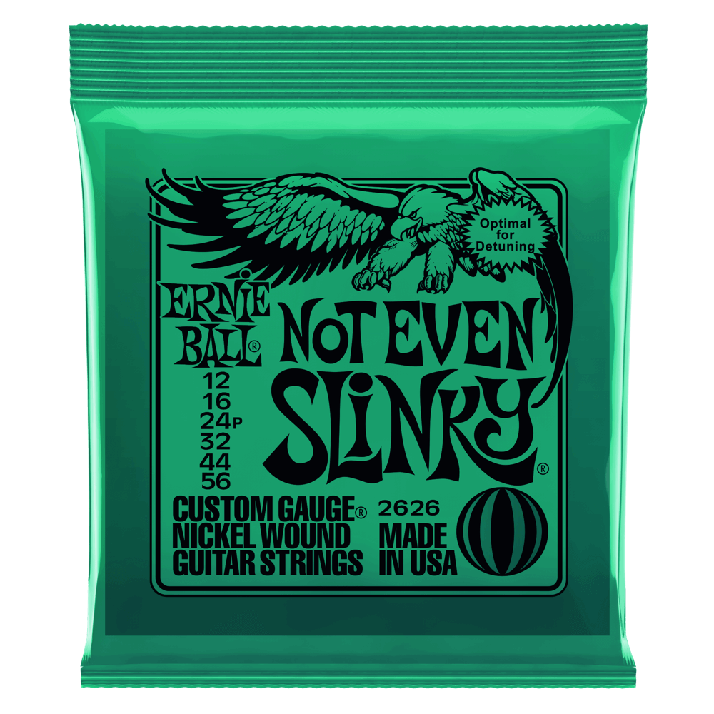 Ernie Ball Not Even Slinky Nickel Wound Electric Guitar Strings .12-.56