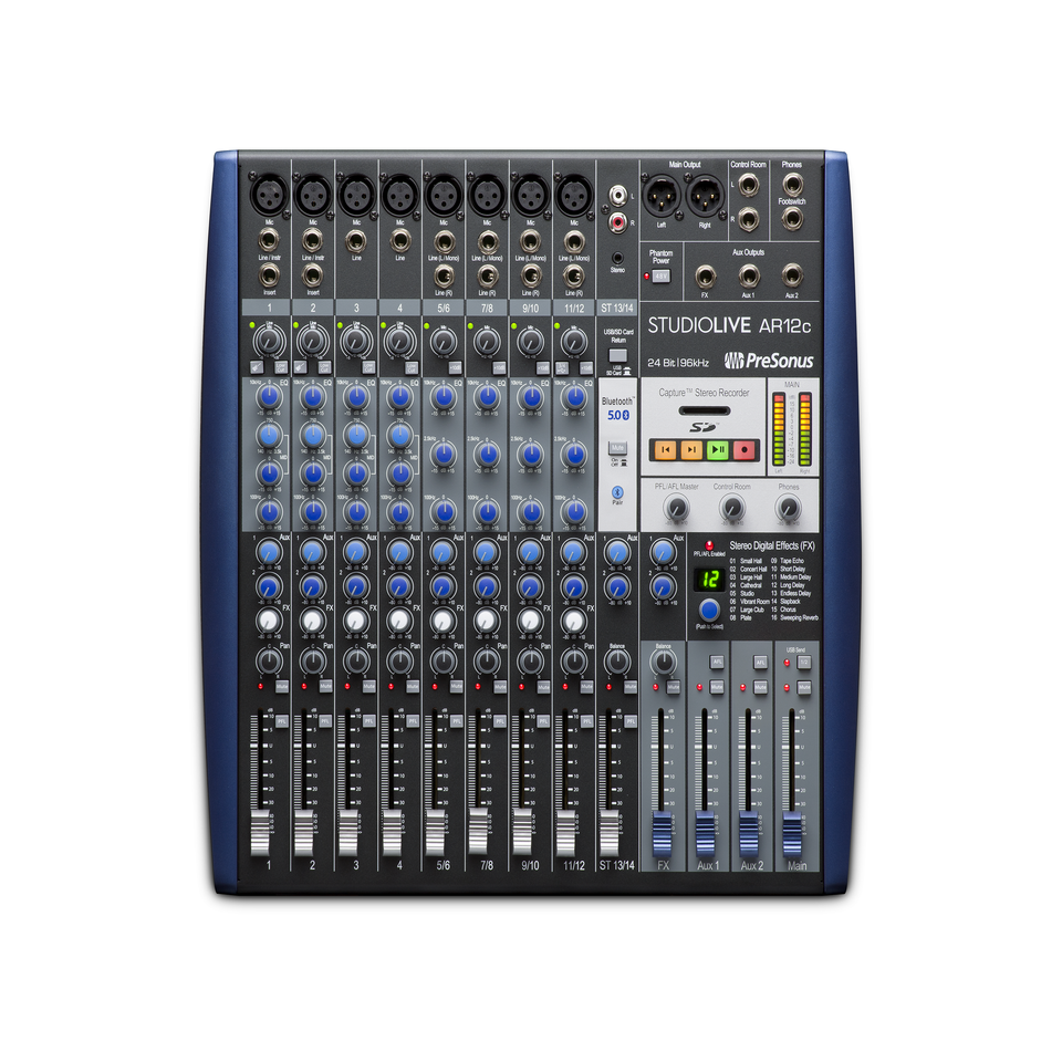 PreSonus StudioLive AR12c USBc 14-Channel Hybrid Mixer and Audio Interface