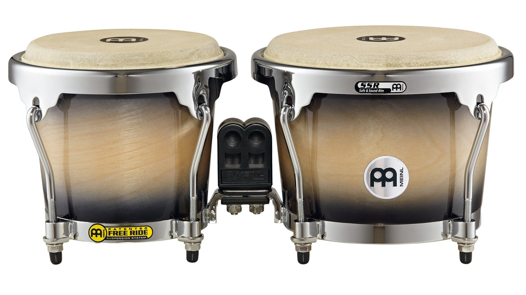 Meinl MB400BKMB RAPC (Radial Ply Construction) Bongos - Black Maple Burst