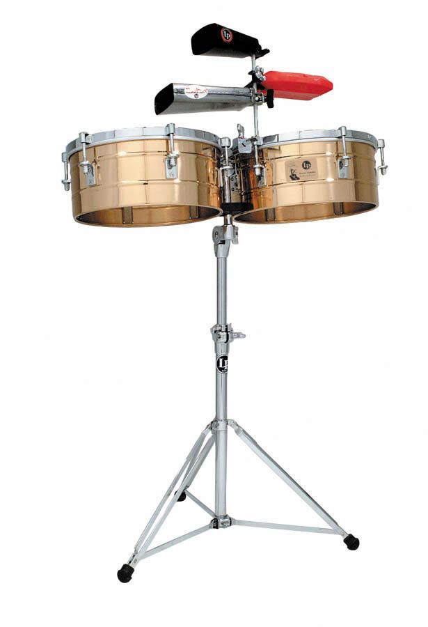 "LP LP257-BZ Tito Puente 14"" And 15"" Timbales - Bronze"