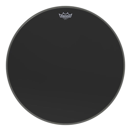 "Remo 22"" Ambassador Ebony Bass Drum Head"