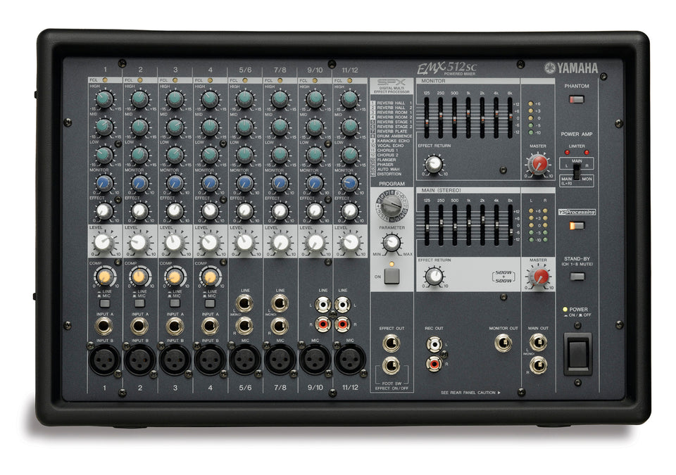 Yamaha EMX512SC 12 Input Powered Mixer