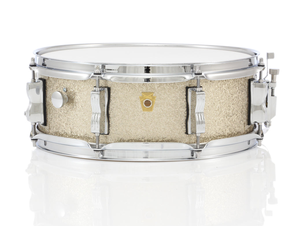 "Ludwig 14"" x 5"" Legacy Classic Maple 8 Lug Snare Drum - Vintage Nickel Sparkle"