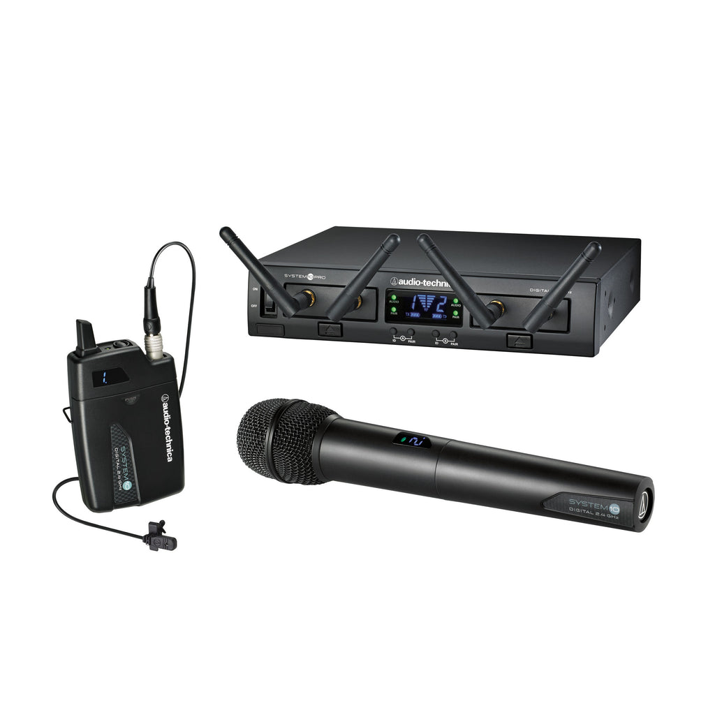 Audio-Technica ATW-1312/L System 10 PRO Lav/Handheld Digital Wireless System