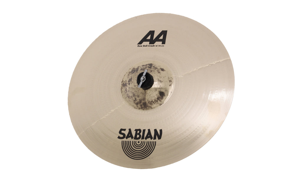 "Sabian 16"" AA Raw Bell Crash Cymbal Brilliant Finish"