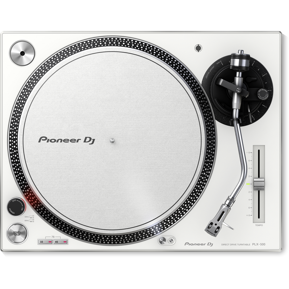 Pioneer PLX-500-W High-Torque, Direct Drive Turntable - White
