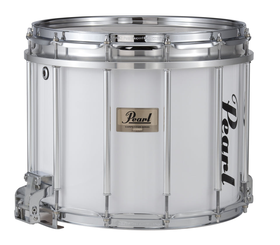 "Pearl 14"" x 12"" Competitor FFX Marching Snare Drum - Pure White"