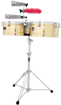 "LP LP1314-B Prestige 13"" And 14"" Timbales, Brass"