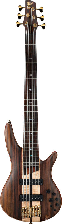 Ibanez SR1806E Premium 6 String Electric Bass - Rosewood Fretboard, Natural Flat