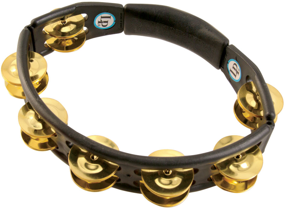 LP LP170 Cyclops Jingle Tambourine, Brass/Black/Hand Held
