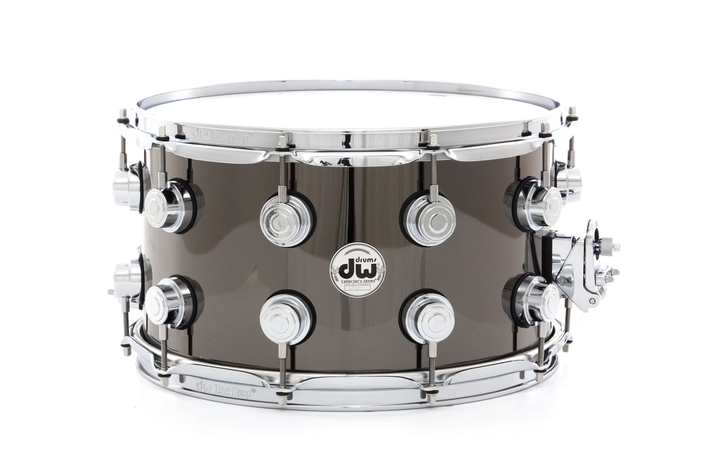 "Drum Workshop 14"" x 8"" Collector's Metal Snare Drum - Black Nickel Over Brass With Chrome Hardware"