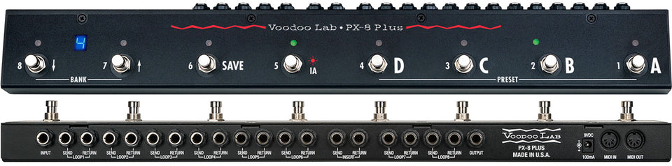 Voodoo Lab PX-8 Plus True Bypass Programmable Pedal Switcher