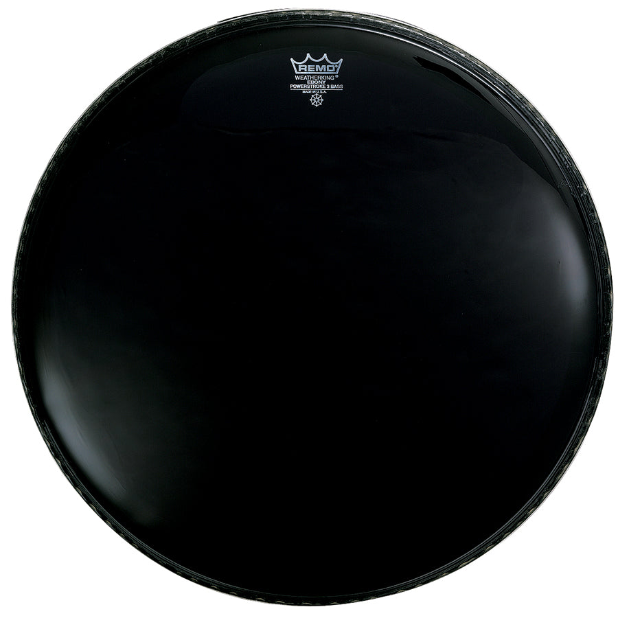"Remo 28"" Ebony Powerstroke 3 Resonant Bass Drum Head"