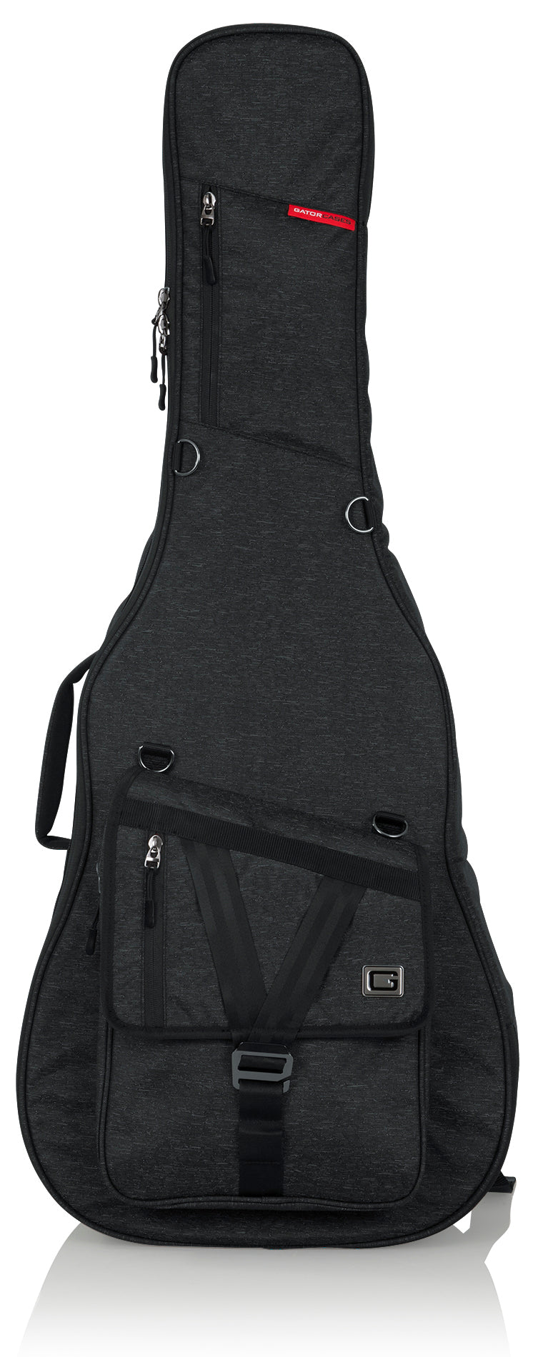 Gator GT-ACOUSTIC-BLK Transit Acoustic Guitar Bag - Charcoal