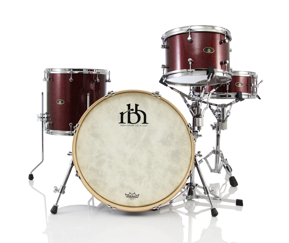 "RBH Drums Westwood 20"" 4 Piece Drum Shell Pack - Merlot Sparkle"