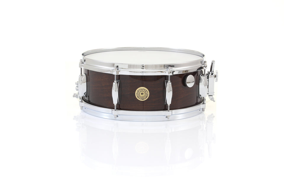 "Gretsch 14"" x 5"" USA CUSTOM Snare Drum - Antique Maple Gloss, Micro Sensitive, Internal Muffler"