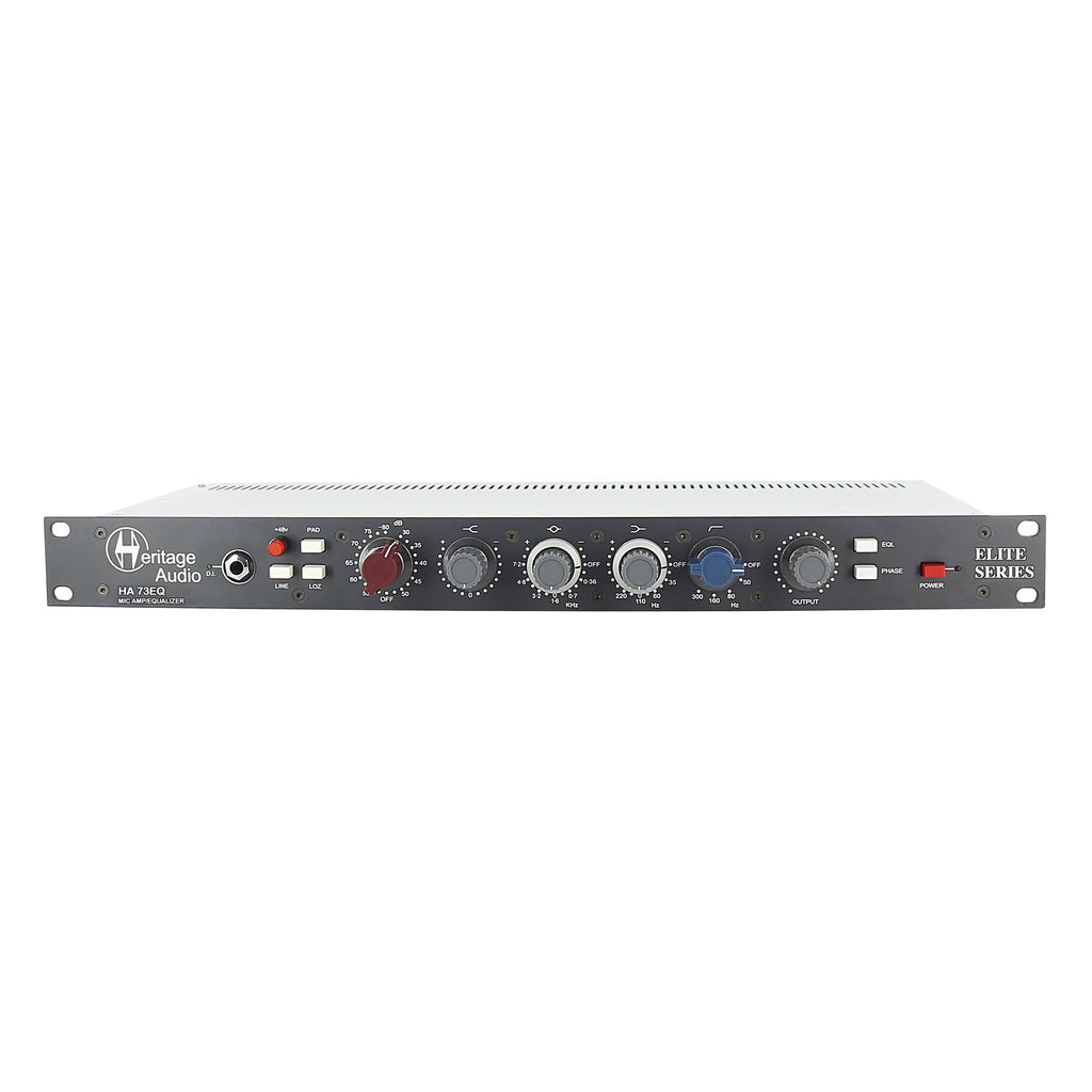 Heritage Audio HA73EQ Elite Single-Channel Full Rack Mic Pre w/ EQ
