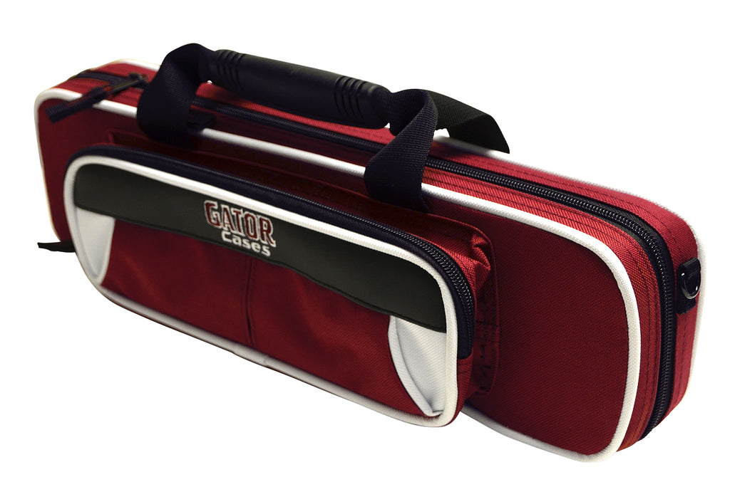 Gator GL-FLUTE-WM Spirit Series Lightweight Flute Case, White And Maroon