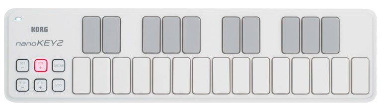 Korg nanoKEY2 Slim Line USB Keyboard - White