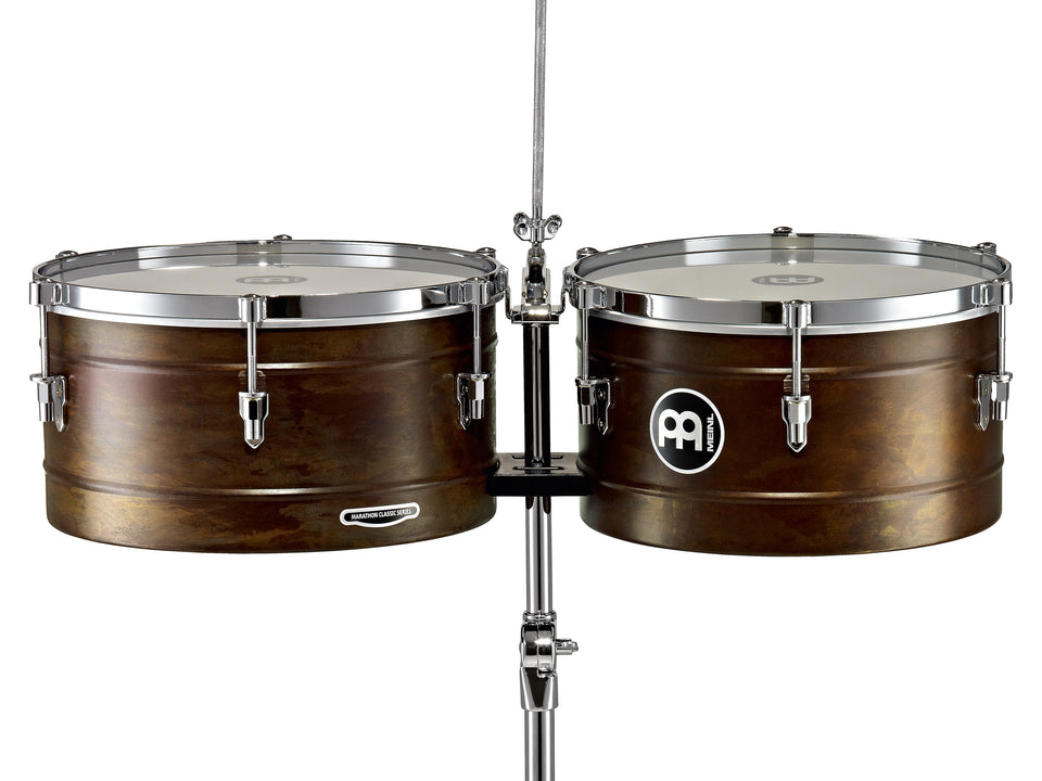"Meinl MT1415RR-M Marathon Series Timbales 14"" & 15"" Antique Finish"