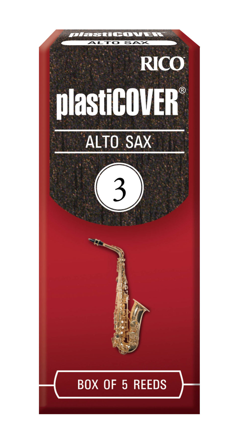 Ddaddario Woodwinds RRP05ASX300 Rico Plasticover Alto Sax Reeds, Strength 3.0, 5-pack